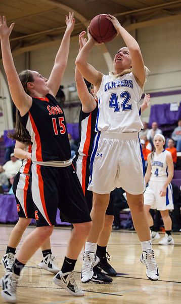 Girls Basketball Solon vs Clear Creek Amana, January 5, 2013