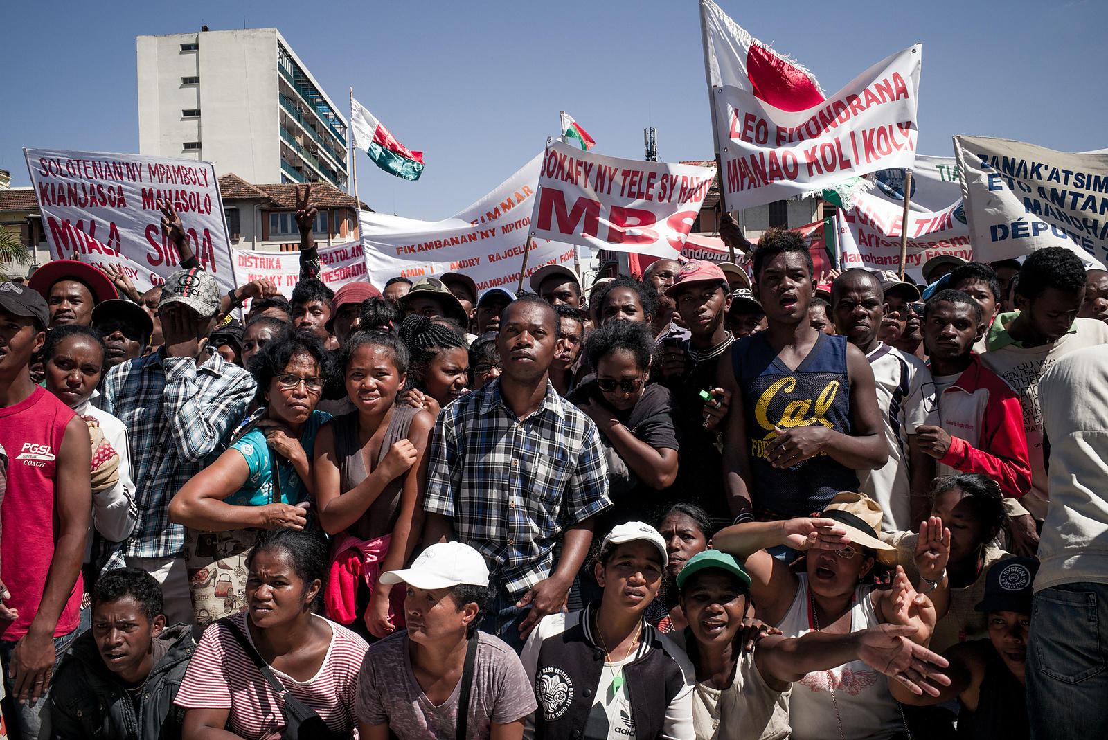 Opposition supporters gathered in the square on May 13 to listen to the speeches in Antananarivo on April 28, 2018.