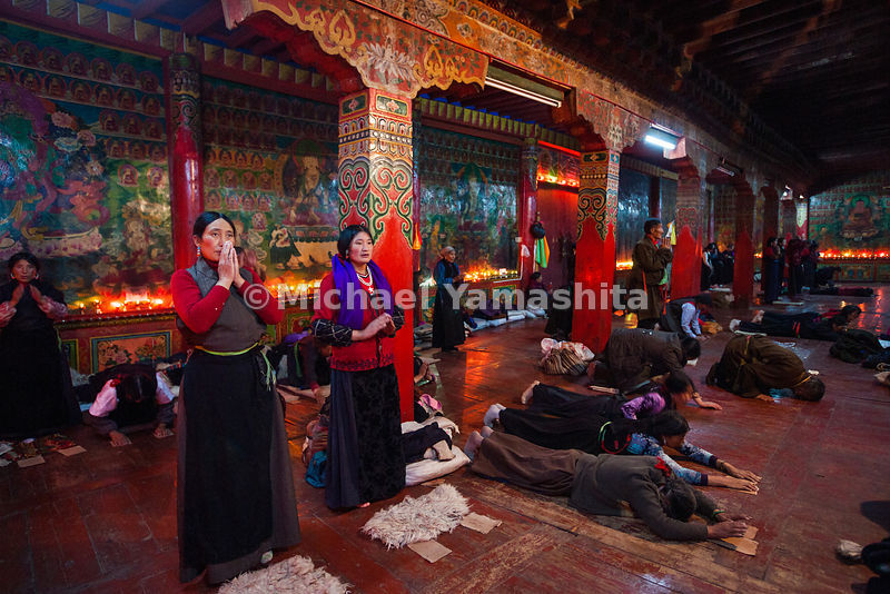 Locals, who have been invited to Garthar Monastery during a festival, engage in the various stages of the highly ritualized p...