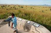 Tourists at a viewing platform, Kidepo Valley National Park, Uganda