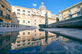 sicilia_palermo_statue_puddle_fontaine_reflectionInstagram