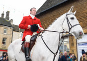 Chris Edwards At the meet. The Cottesmore Hunt Boxing Day Meet in Oakham 26/12