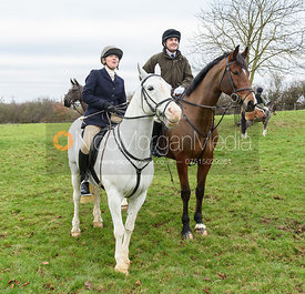Caroline Stewart, George Corbin At the meet at Merrivale Farm 5/1