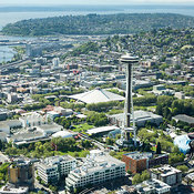 Space Needle and Seattle Center area; Seattle, WA
