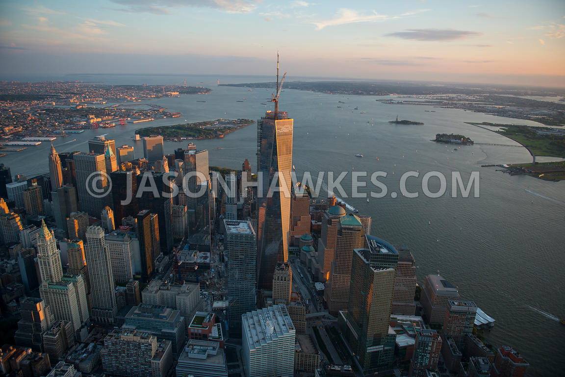 Aerial view of One World Trade Center, Lower Manhattan