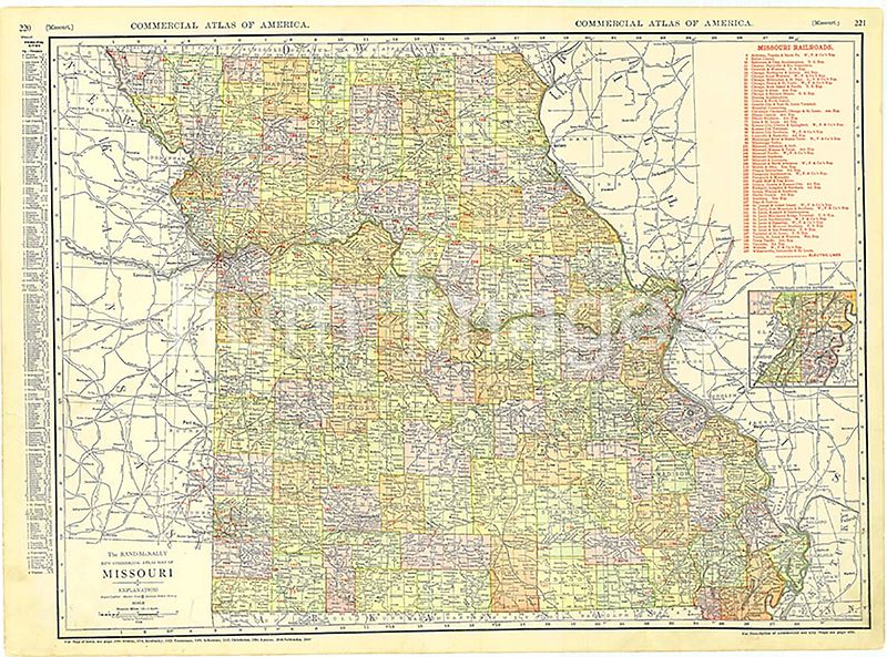 1913 Missouri Map