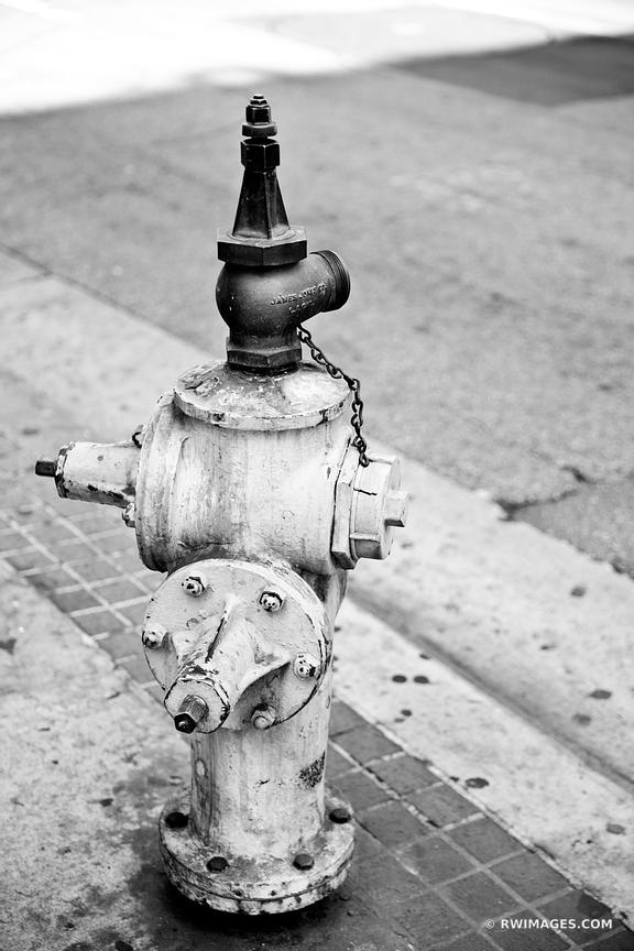 FIRE HYDRANT LOS ANGELES CALIFORNIA BLACK AND WHITE