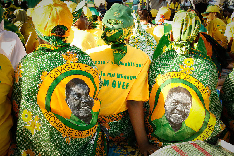 A ruling party Chama Cha Mapinduzi (CCM) pre-election meeting in Stone Town, Zanzibar, 28 September, 2010.