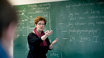 Danish schoolteacher at work