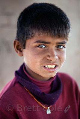 A boy in the rural village of Keechan, near Jodhpur, Rajasthan, India