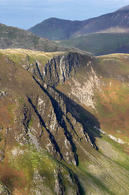 Views of May Crag below Hindscarth in the Lake District, England, UK.
