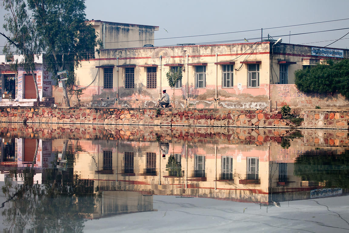 Building reflection in Bharatpur, Rajasthan, India