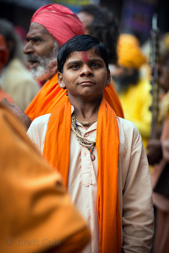 A young Hindu priest in training, Pushkar, Rajasthan, India