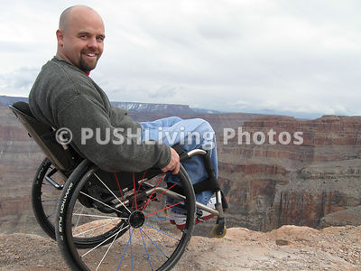 Man in wheelchair at the Grand Canyon