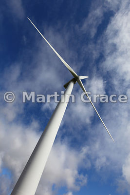 Wind turbine at Evie, West Mainland, Orkney, United Kingdom