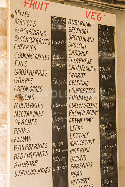 Price list. Clovelly Court, Bideford, Devon, UK