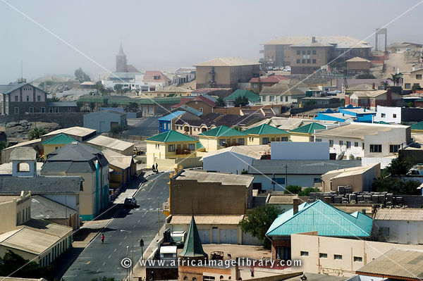 Lüderitz is an old German town in Namibia and is often in the mist