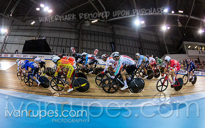 Men's Omnium 3: Elimination Race. Track Cycling World Cup Milton, October 27, 2018