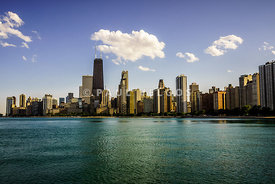 Gold Coast Skyline in Chicago