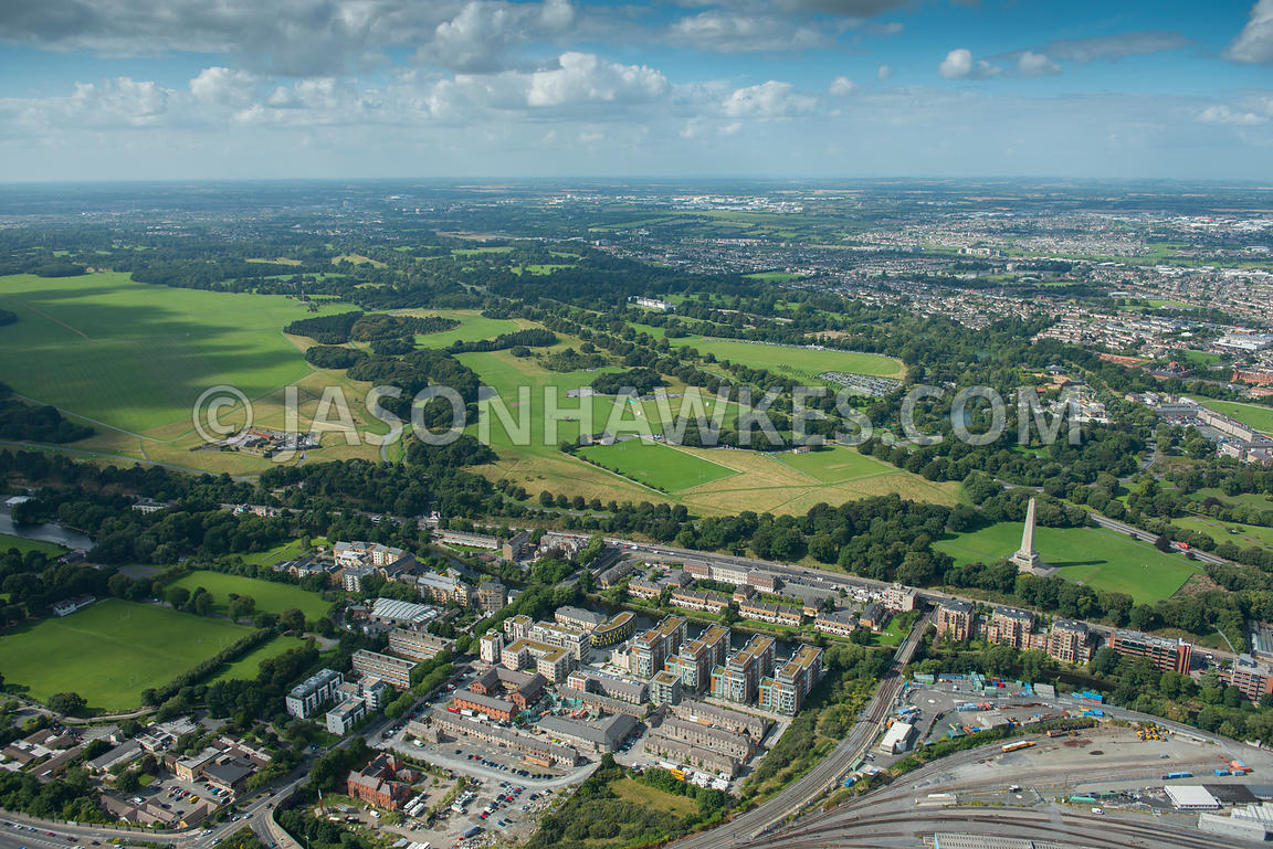 Aerial view of Phoenix Park, Dublin, Ireland