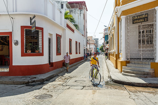 Street scene in Santa Marta, Colombia, South America