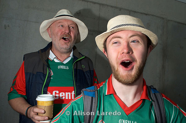 Mayo fans Peadar and Michael Lafferty.One of the photos chosen for Downs Syndrome Ireland DSI Calander 2018 PHOTO: ALISON LAREDO