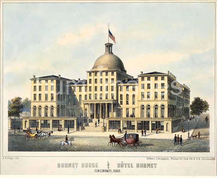 Burnet House ; Hôtel Burnet, Cincinnati, Ohio ca 1850-1860