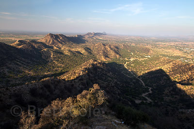 Aravali Range and the Thar Desert near Majhewla village, Rajasthan, India