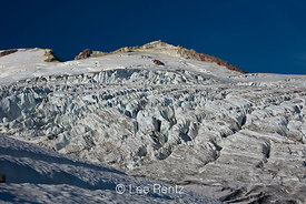 Easton Glacier on the slopes of Mt. Baker looking up toward the Sherman Crater, Mt. Baker–Snoqualmie National Forest, Washing...