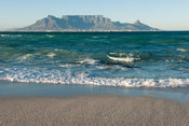 View of Table Mountain from Bloubergstrand, Cape Town, south Africa