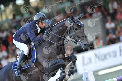 Gijon, Spain - 2018 September 2: GRAN PREMIO DE GIJON - Trofeo Funeraria Gijonesa - CSIO5* 1m60 during CSIO5 Gijon.(photo: 1c...