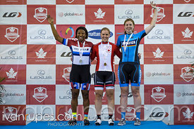 Master Women Sprint Podium. 2017 Canadian Track Championships, September 29, 2017