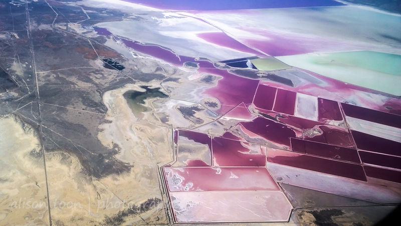 Solar evaporation ponds, Salt Lake, Utah