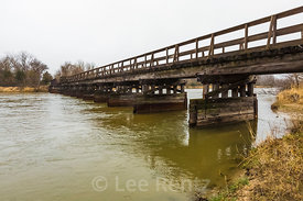 Hike-Bike Trail Bridge over the Platte River near Kearny, Nebraska