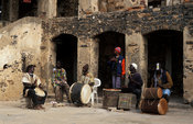 drummers, Traditional band, Goree island, Senegal