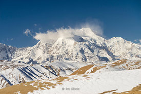 Shishapangma Mountain, the 14th highest mountain in the world at 26,335 feet. (8027 meters). It is the the tallest mountain e...