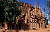 mosque, Teli village, Dogon Country, Mali