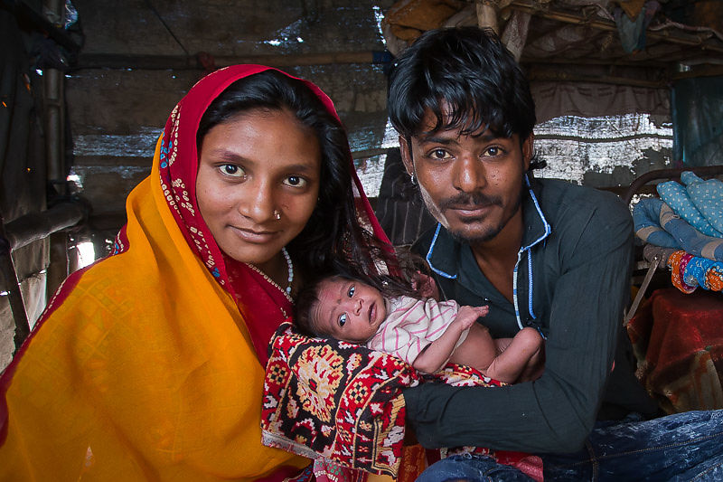 We built a new tent for baby Chandani and family, she was premature