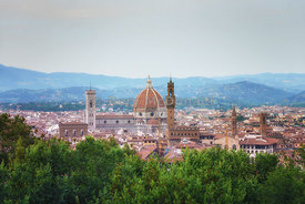 View across to Florence Duomo