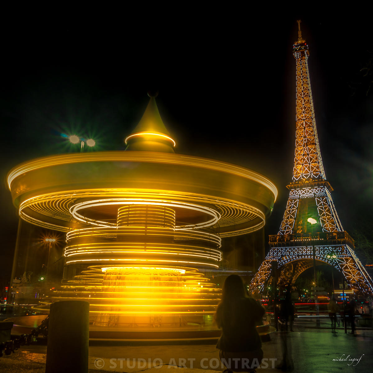 tour_eiffel_manège_longexpo_mouvement_caroussel_trocadero_night