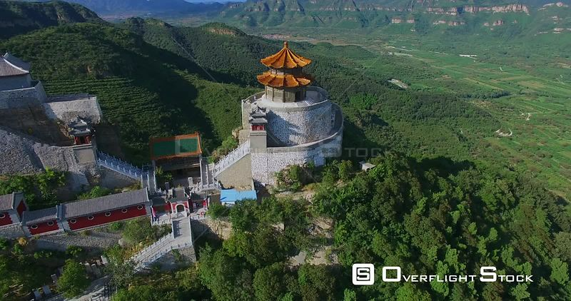 Tao's Temple on Yajishan Mountain Peaks, Beijing China