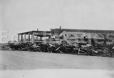 Galveston Storm, 1915 -- Wrecked bath houses on Boulevard