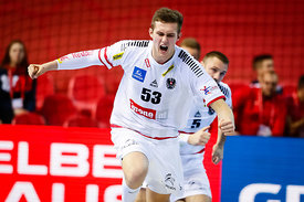 Mykola Bilyk during the EHF EURO Croatia 2018 - Preliminary round -  Group B - Norway vs Austria in Zatika Sports Centre, Por...