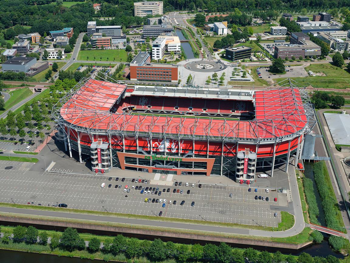 Aerial View Enschede De Grolsch Veste The Fc Twente Football Stadium Has A Capacity Of 30 205 And Is Located In The Kennispark Twente