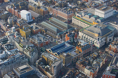 Covent Garden aerial view, London