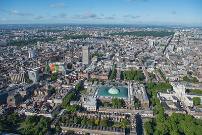 Aerial view of London Bloomsbury, Fitzrovia and St Giles