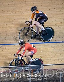 Junior Women Sprint 3-4 Final. Ontario Track Championships, Mattamy National Cycling Centre, Milton, On, March 4, 2017