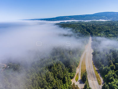 Fog Over Highway 101 and Eureka California