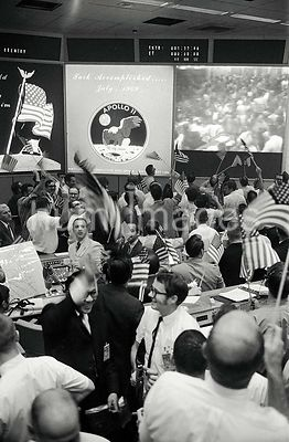 24 Jul 1969 - View of Mission Operations Control Room in the Mission Control Center (MCC), Manned Spacecraft Center (MSC), sh...