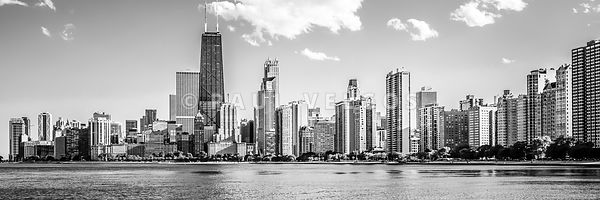 Chicago Skyline Panoramic Picture of Gold Coast